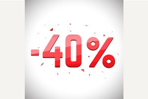 Forty percent sale off.