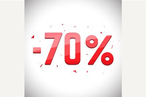 Seventy percent sale off
