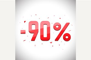Ninety percent sale off.