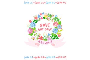 Save the date of wedding