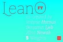 LeanO FY Bold Italic