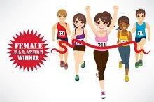 Female Marathon Winner People