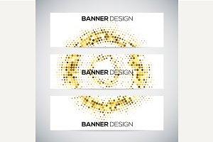 Halftone banner design
