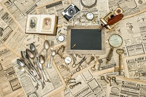 Vintage antique props