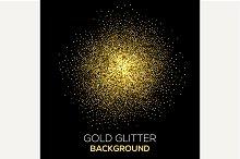 confetti glitter on black background