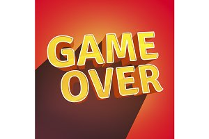 Game Over letters design