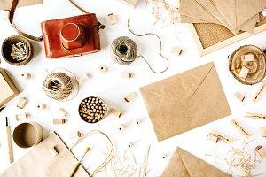 Retro camera and craft envelopes
