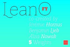 LeanO FY Light Italic