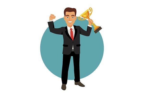 Celebrating businessman