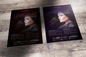 Hair studio flyer template