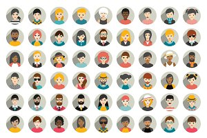 Mega set of avatars, persons, people