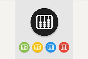 Retro old abacus icon.