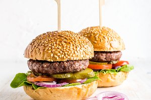 Fresh homemade burgers
