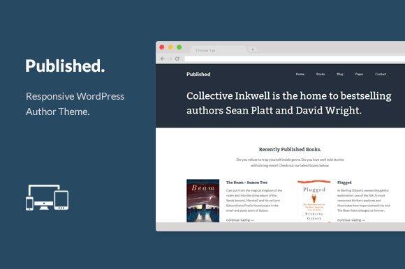 Published Wordpress Author Theme Wordpress Themes Creative Market