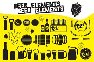 Beer elements and badges