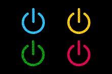 Power button icon set.