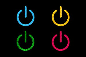 Power button icon set.