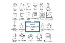 Medical tests and researches icons