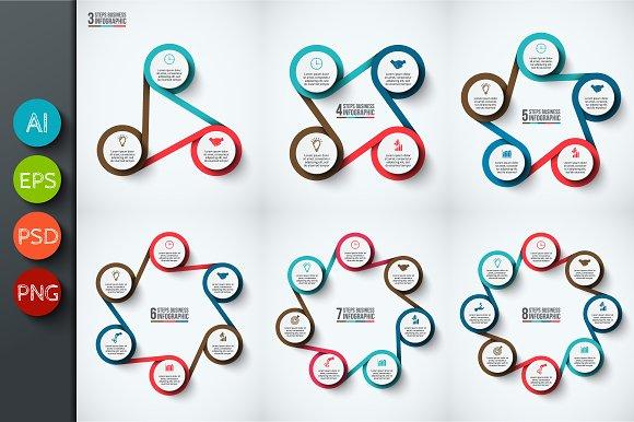 Infographics template set v.33