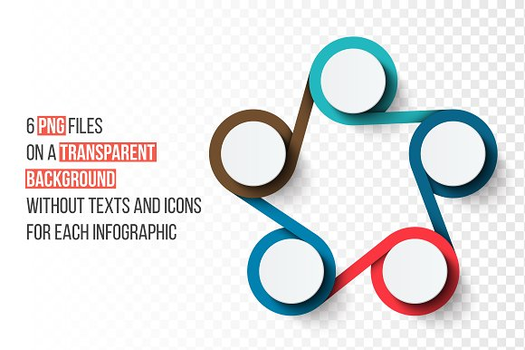 Infographics template set v.33 in Presentation Templates - product preview 1