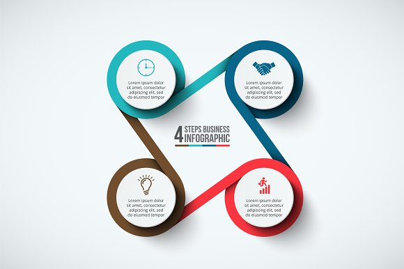 Infographics template set v.33 in Presentation Templates - product preview 3