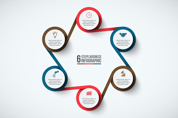 Infographics template set v.33 in Presentation Templates - product preview 5