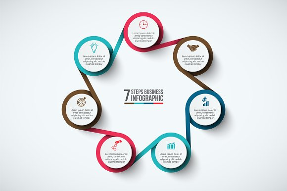 Infographics template set v.33 in Presentation Templates - product preview 6