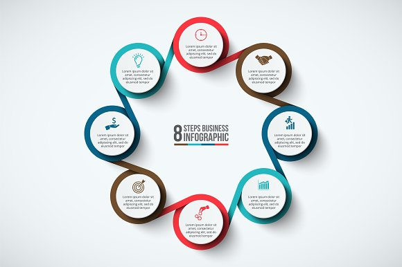 Infographics template set v.33 in Presentation Templates - product preview 7