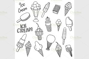 hand drawn cartoon ice cream