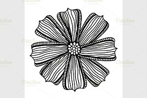 beautiful monochrome gerbera flower