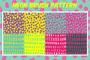 Neon brush pattern collection