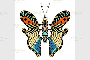 Vector beautiful butterfly.