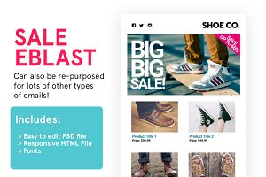 Product Sale Eblast (HTML+PSD)