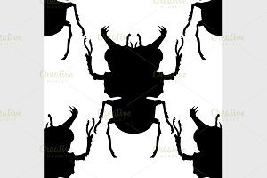 pattern with silhouette of bugs