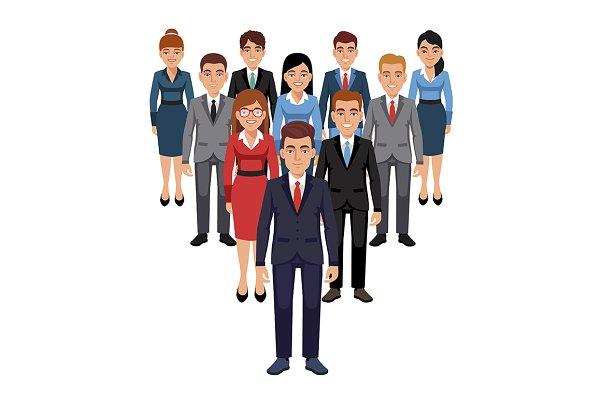 Executives team. Leadership concept