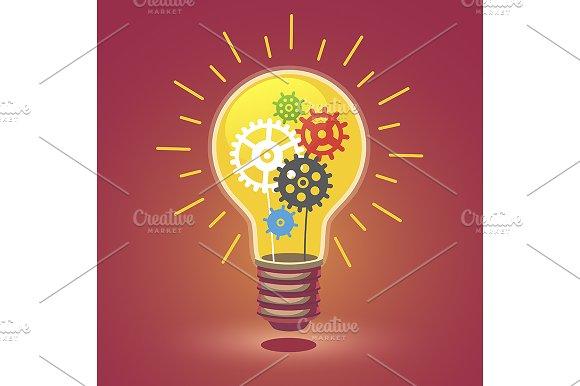 Shining bright idea light bulb