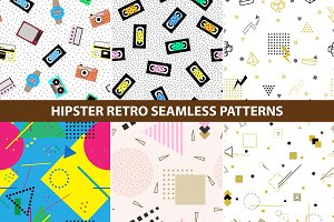 Hipster retro memphis patterns.