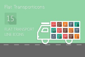 Transport stroke icons