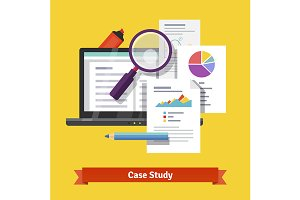 Case study research concept