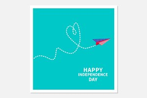 Paper plane. Happy Independence Day