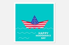 Paper boat. Happy independence day