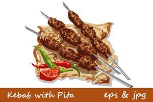 Kebab with Pita