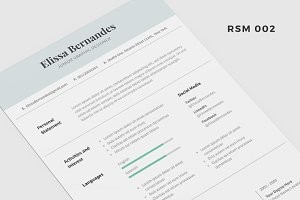 "Resume Template - ""Dove"""