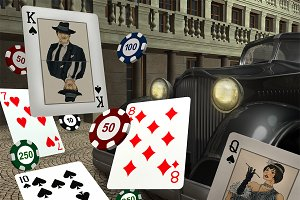 Gangster Poker game assets.
