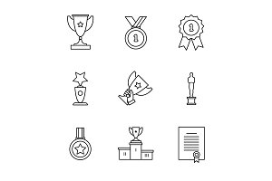 Award winner icons