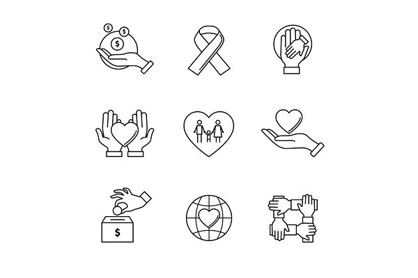 Support and care icons
