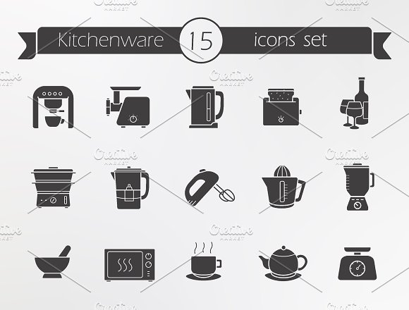Kitchenware icons. Vector - Icons