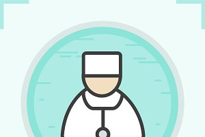 Doctor color icon. Vector