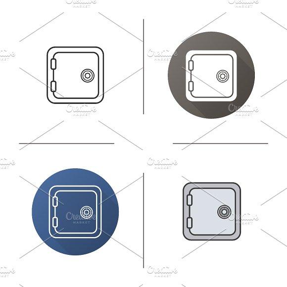 Safe deposit box icon. Vector - Icons