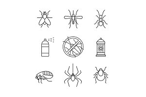 Insects control, anti pest emblem